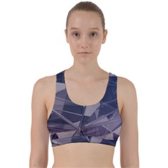 Abstract Background Abstract Minimal Back Weave Sports Bra by Nexatart