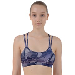 Abstract Background Abstract Minimal Line Them Up Sports Bra