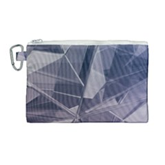 Abstract Background Abstract Minimal Canvas Cosmetic Bag (large) by Nexatart