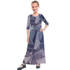 Abstract Background Abstract Minimal Kids  Quarter Sleeve Maxi Dress by Nexatart