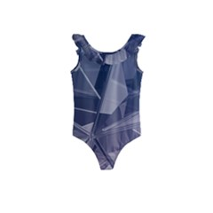 Abstract Background Abstract Minimal Kids  Frill Swimsuit