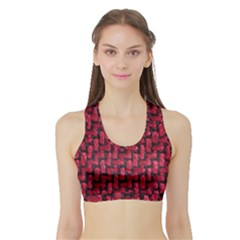 Fabric Pattern Desktop Textile Sports Bra With Border