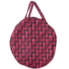Fabric Pattern Desktop Textile Giant Round Zipper Tote