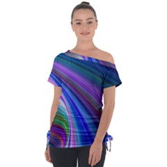 Background Abstract Curves Tie Up Tee