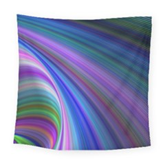 Background Abstract Curves Square Tapestry (large)