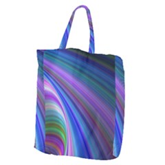 Background Abstract Curves Giant Grocery Tote