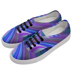 Background Abstract Curves Women s Classic Low Top Sneakers by Nexatart
