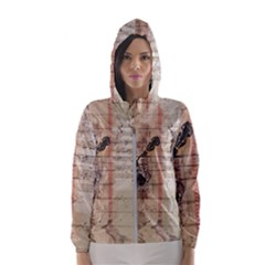 Art Collage Design Colorful Color Hooded Windbreaker (women)