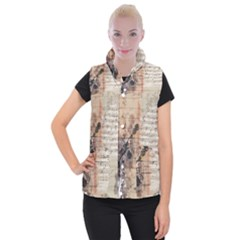 Art Collage Design Colorful Color Women s Button Up Vest