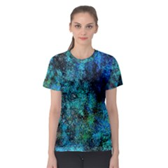 Color Abstract Background Textures Women s Sport Mesh Tee