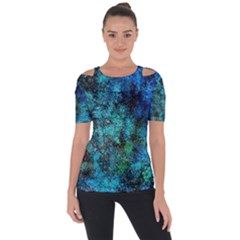 Color Abstract Background Textures Short Sleeve Top