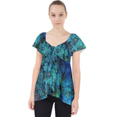 Color Abstract Background Textures Lace Front Dolly Top