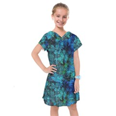 Color Abstract Background Textures Kids  Drop Waist Dress