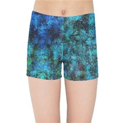 Color Abstract Background Textures Kids Sports Shorts