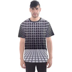 Space Glass Blocks Background Men s Sports Mesh Tee