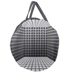Space Glass Blocks Background Giant Round Zipper Tote