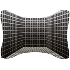 Space Glass Blocks Background Seat Head Rest Cushion by Nexatart