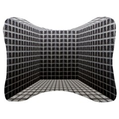 Space Glass Blocks Background Velour Seat Head Rest Cushion by Nexatart