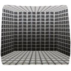 Space Glass Blocks Background Seat Cushion by Nexatart