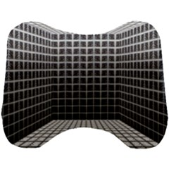 Space Glass Blocks Background Head Support Cushion by Nexatart