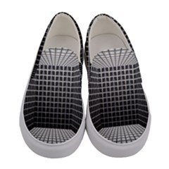 Space Glass Blocks Background Women s Canvas Slip Ons