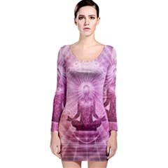 Meditation Spiritual Yoga Long Sleeve Bodycon Dress