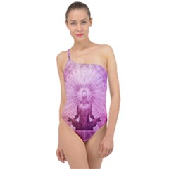 Meditation Spiritual Yoga Classic One Shoulder Swimsuit