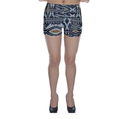 Fabric Textile Abstract Pattern Skinny Shorts