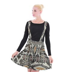 Fabric Textile Abstract Pattern Suspender Skater Skirt