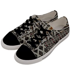 Fabric Textile Abstract Pattern Men s Low Top Canvas Sneakers by Nexatart