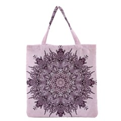 Mandala Pattern Fractal Grocery Tote Bag by Nexatart