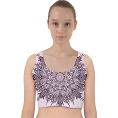 Mandala Pattern Fractal Velvet Racer Back Crop Top