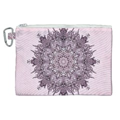 Mandala Pattern Fractal Canvas Cosmetic Bag (xl)