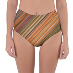 Background Texture Pattern Reversible High Waist Bikini Bottoms