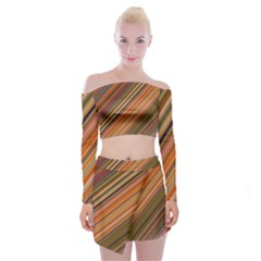 Background Texture Pattern Off Shoulder Top With Mini Skirt Set by Nexatart