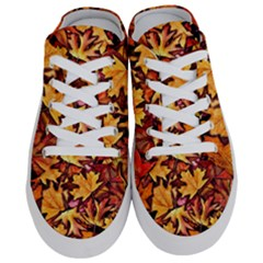 Fall Leaves Pattern Half Slippers