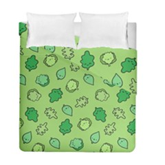 Funny Greens And Salad Duvet Cover Double Side (full/ Double Size) by Mishacat