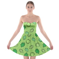 Funny Greens And Salad Strapless Bra Top Dress