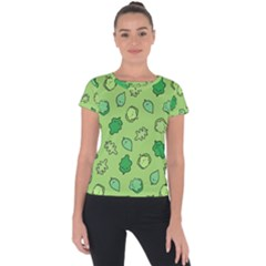 Funny Greens And Salad Short Sleeve Sports Top  by Mishacat