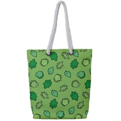 Funny Greens And Salad Full Print Rope Handle Tote (small) by Mishacat