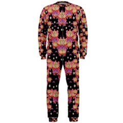 Fantasy Flower Ribbon And Happy Florals Festive Onepiece Jumpsuit (men)  by pepitasart