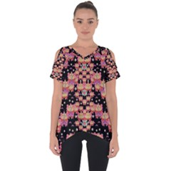 Fantasy Flower Ribbon And Happy Florals Festive Cut Out Side Drop Tee by pepitasart