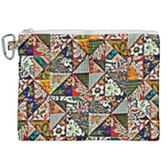 Patchwork Pattern Canvas Cosmetic Bag (xxl) by bywhacky