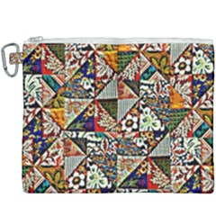 Patchwork Pattern Canvas Cosmetic Bag (xxxl) by bywhacky