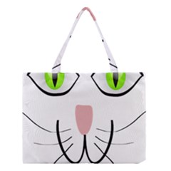 Cat Green Eyes Happy Animal Pet Medium Tote Bag