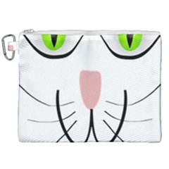 Cat Green Eyes Happy Animal Pet Canvas Cosmetic Bag (xxl) by Sapixe