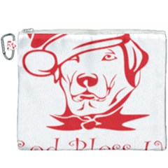 Dog Santa Hat Winter Christmas Canvas Cosmetic Bag (xxxl) by Sapixe