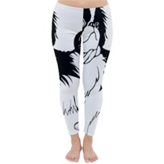 Animal Canine Dog Japanese Chin Classic Winter Leggings by Sapixe