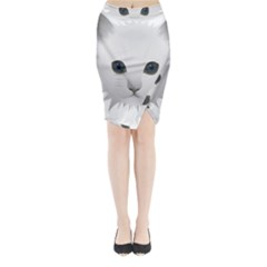 Cat Animal Pet Kitty Cats Kitten Midi Wrap Pencil Skirt by Sapixe