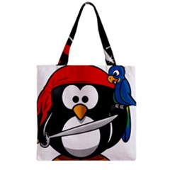Penguin Pirate Tux Animal Bandana Grocery Tote Bag by Sapixe